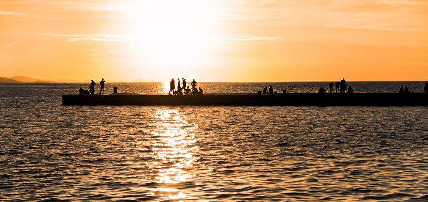 Sea and sun in Zadar